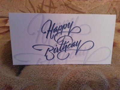 Открытка на день рождения