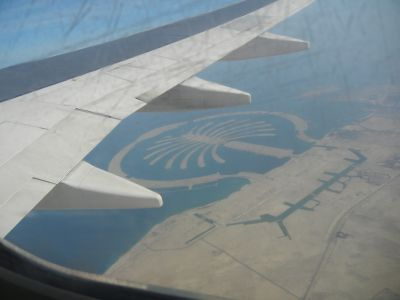 Насыпной остров Пальма (вид с самолёта)