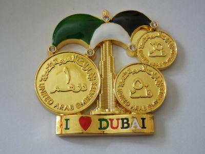 Магнитик в виде монет ОАЭ. Дубай