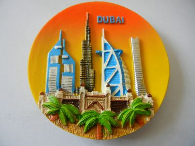 Магнитик панорамы Дубая 8