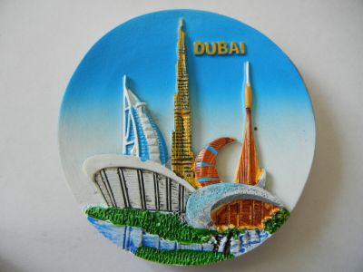 Магнитик панорамы Дубая 4