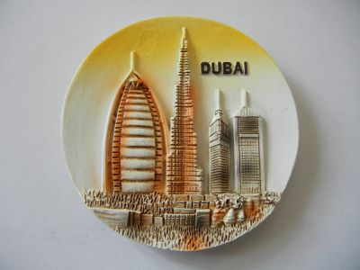 Магнитик панорамы Дубая 3