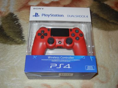 Sony DualShock 4 Cont, Magma Red контроллер для PS4